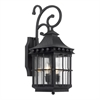 ELK lighting Taos Outdoor Wall Lantern In Espresso Finish With Seeded Glass