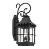 Taos Outdoor Wall Lantern In Espresso Finish With Seeded Glass