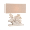 Fallen Leaf 1 Light Table Lamp In Textured Nickel