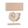 Nautilus 1 Light Table Lamp In Textured Nickel