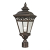 Cornerstone Mendham 1 Light Exterior Post Lantern In Hazelnut Bronze