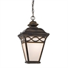 Mendham 1 Light Pendant Lantern In Hazelnut Bronze