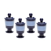 Navy And Denim Polar Filled Votive - Set of 4