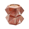 Large Ceramic Star Candle Holders In Russet - Set of 2