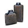 Dotted Relief Rectangular Vases In Cobalt Blue