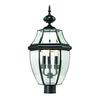 Cornerstone Ashford 3 Light Exterior Post Lantern In Black