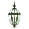 Cornerstone Ashford 3 Light Exterior Post Lantern In Antique Nickel