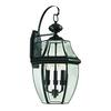 Cornerstone Ashford 3 Light Exterior Coach Lantern In Black