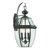 Cornerstone Ashford 3 Light Exterior Coach Lantern In Oil Rubbed Bronze