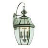 Ashford 3 Light Outdoor Wall Sconce In Antique Nickel