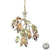 ELK lighting Huarco 3 Light Chandelier In Seashell And Green - Includes Recessed Lighting Kit