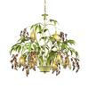 Huarco 8 Light Chandelier In Seashell And Green