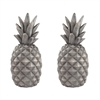 Sterling Set of 2 Aged Grey Pineapples