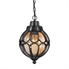 Madagascar 1 Light Outdoor Pendant In Matte Black