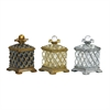 Sterling Set Of 3 Assyrian Keepsake Boxes