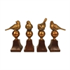 Sterling Set of 4 Audobon Finials