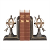 Sterling Pair Arrow And Sphere Bookends