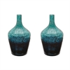 Lazy Susan Emerald Ombre Bottle - Set Of 2