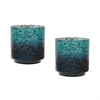 Lazy Susan Emerald Ombre Hurricane- Set Of 2