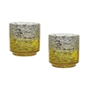Ombre Hurricanes In Lemon - Set of 2