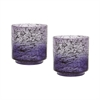 Lazy Susan Plum Ombre Hurricane - Set Of 2