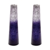Ombre Snorkel Vases In Plum - Set of 2
