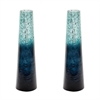 Ombre Snorkel Vases In Emerald - Set of 2