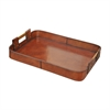 Large Leather Tray With Brass Handles