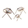 Oculi Decorative Magnifying Lenses In Antique Brass - Set of 3