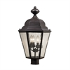 Cotswold 4 Light Exterior Post Lamp In Oil Rubbed Bronze
