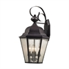 Cotswold 4 Light Exterior Wall Lamp In Oil Rubbed Bronze