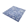 Senneh Handwoven Wool Printed Rug In Blue And White - 6-Inch Square