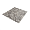 Dimond Home Darcie Handtufted Wool Distressed Printed Rug - 16-Inch Square Iron Ore Grey,Cream