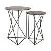Geometric Metal Accent Tables