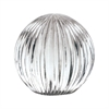Ribbed Glass Globe