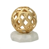 Hive Tabletop Sculpture Gold,White Marble