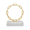 Sterling Torus Tabletop Sculpture Gold,White Marble