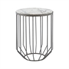 Helm Accent Table In Zinc