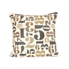 Pomeroy Numbers 20x20 Pillow, Legion Blue,Sand