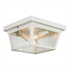 Cornerstone Springfield 2 Light Exterior Flush Mount In White