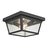 Cornerstone Springfield 2 Light Exterior Flush Mount In Matte Textured Black