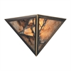 Imperial Granite 2 Light Wall Sconce In Solid Antique Brass
