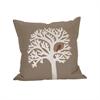 Pomeroy Lockwood 20x20 Pillow, Crema,Smoked Pearl,Ribbon Red