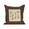 Pomeroy Locksley 20x20 Pillow, Dark Earth,Crema