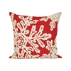 Pomeroy Neve 20x20 Pillow, Ribbon Red,Crema