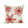 Noella 20x20 Pillow, Sand,Ribbon Red