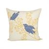 Pomeroy Birchmont 20x20 Pillow, Crema,Dijon,Denim