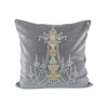 Pomeroy Chandelier 20x20 Pillow, Chateau Gray,Gold