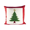 Evergreen 20x20 Pillow, Ribbon Red,Evergreen,Snow