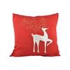 Pomeroy Enchanted 20x20 Pillow, Ribbon Red,Snow
